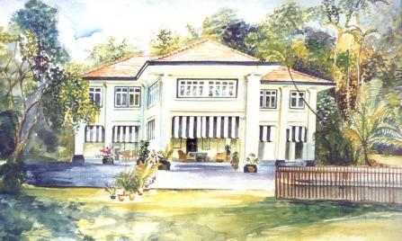 Alexandra Park, watercolour commission - private collection