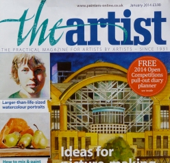 The Artist Magazine - feature Jan 2014