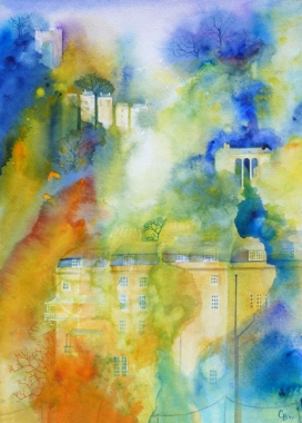 Bath Cascade - sold, limited edition giclee print available