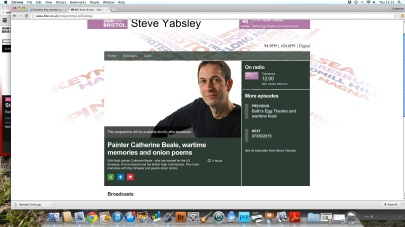 BBC Radio Bristol interview with Steve Yabsley