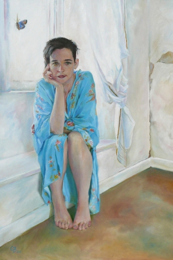 Georgia -oil on canvas - sold, London's Mall Galleries