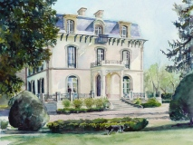 French Chateau - watercolour commssion - private collection