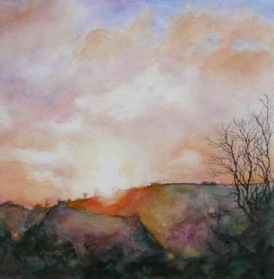 Dawn - sold watercolour