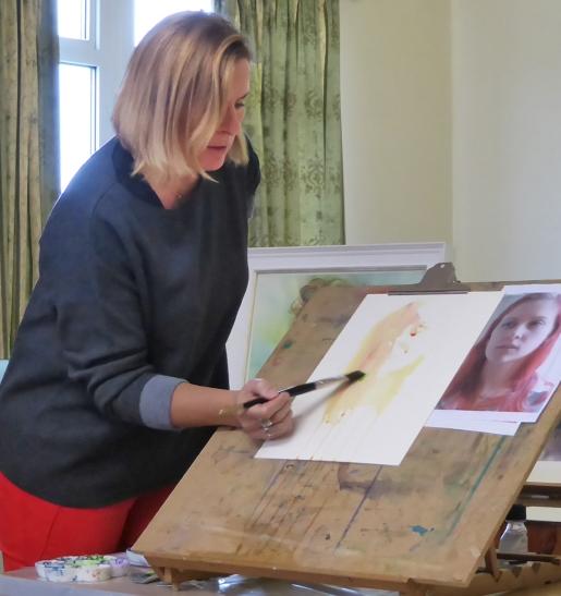 Watercolour Portrait demo