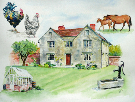 Watercolour commission - private collection