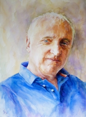 James - watercolour on board 56 x 76cms