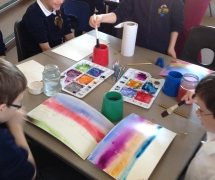 Handling watercolours