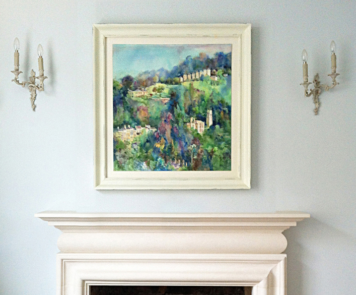 landscape painting in clients home