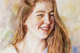 Lucy - watercolour on board