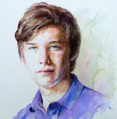Michael - watercolour on board - commission