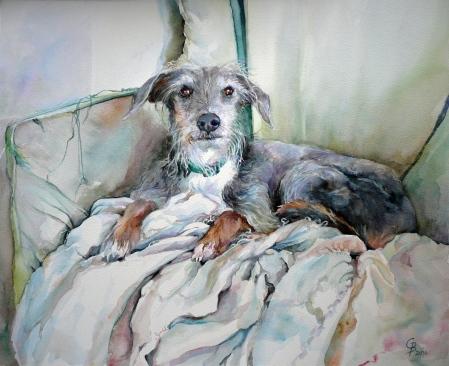 Rosie - treasured companion (76 x 56cms/30 x 22inches)