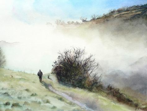 Solitude - sold watercolour