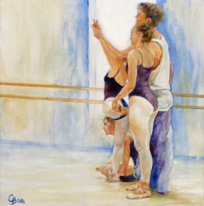 The Dance Class, oil - for sale