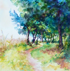 The Pathway - sold watercolour