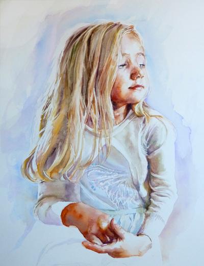 Tiggy, watercolour - commission