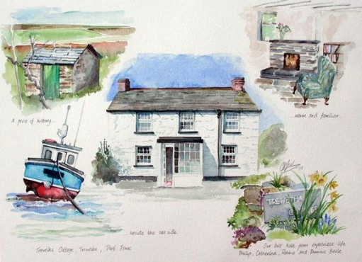 Cornish Cob Cottage, artist's collection