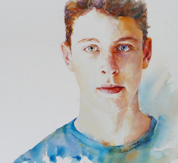 Youth - watercolour 2016 56 x 51 cms