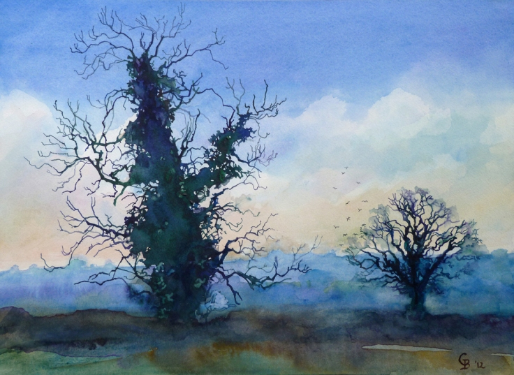 Rooks rising (Blue) - giclee print available