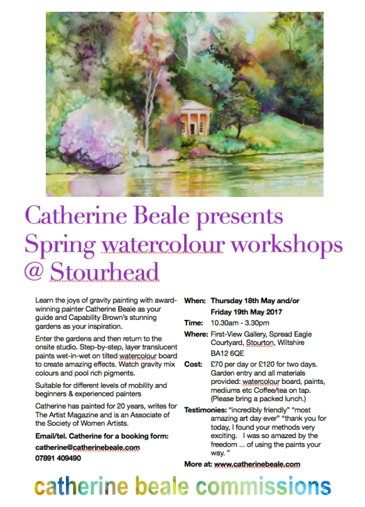Stourhead May 2017 workshop latest poster