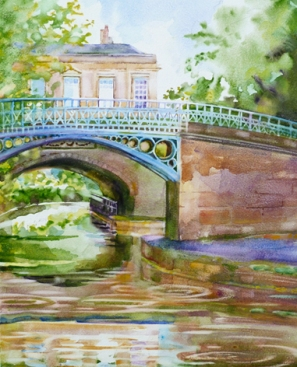 Sydney Gardens - watercolour on clay (as seen Bath Life Magazine)