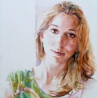 Yasminca - watercolour on baord