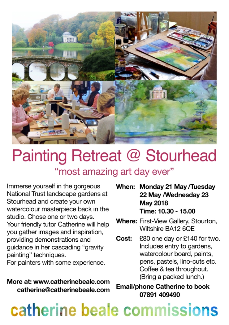 Stourhead May 2018 workshop A5 poster