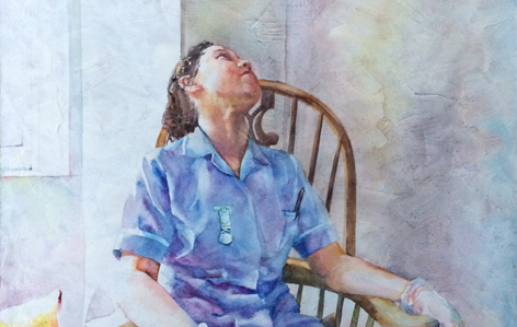 banner small - the calling by catherine beale, watercolours on wood